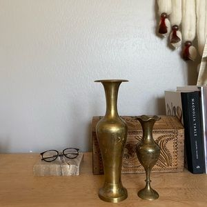 Vintage brass vases